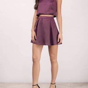 Plum Skater Skirt